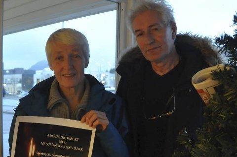 KONSERT: Kjellaug Guldahl og jack Liland og resten av Vestvågøy Janitsjar inviterer til adventskonsert søndag 27.november i Buksnes kirke. Foto: Kai Nikolaisen