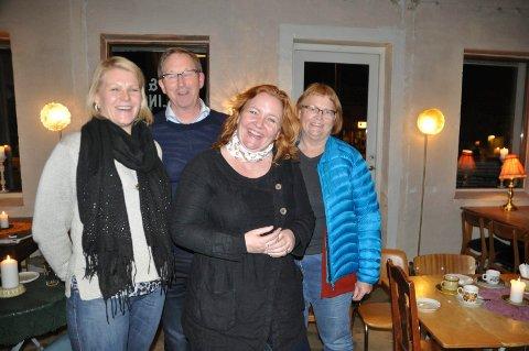 Nordlands listetopp Dagrunn Eriksen med Hilde Holand, Terje Wiik og Anne Lise Haakestad. Foto: Magnar Johansen