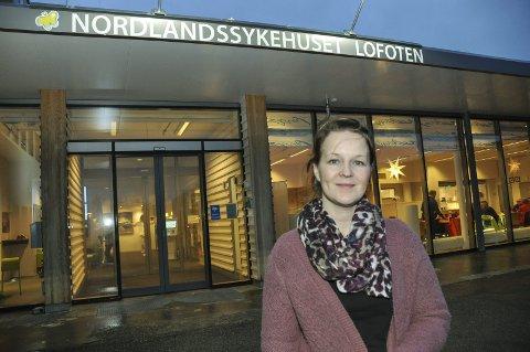 Åpent: Avdelingsleder ved Lofoten Dps, Desiree Skjerpen Høgmo, sier psykiatritilbudet i Lofoten er normalt juleåpent. Foto: Lise Fagerbakk