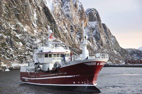 SOLGT: 28. januar kom «Willassen» til Svolvær. Nå er den solgt til Moskenes. Begge Foto: John-Arne Storhaug