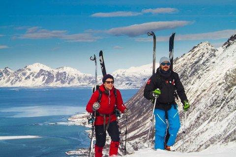 """Kronprinsen i Lofoten i forbindelse med innspilling av """"Oppdrag Nord-Norge""""."""
