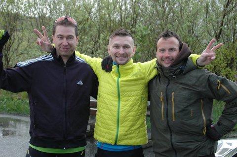 Pallen i herreklassen bestod av Sigve Sandvik (fra venstre), Johnny Strømnes og Fredrik Karlsen.