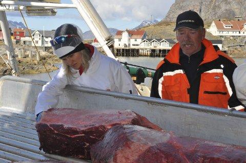 LITE KVAL: Kvalfanger Per Asbjørn Wærstad forteller om lite åte og dermed lite kval i Vestfjorden.
