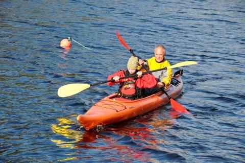 Kajakk: Torleif Utnes har nå trukket seg tilbake fra padlemiljøet. Her er han sammen med Jonas Bugge i dobbeltkajakk i 2010.FOTO: Arkiv