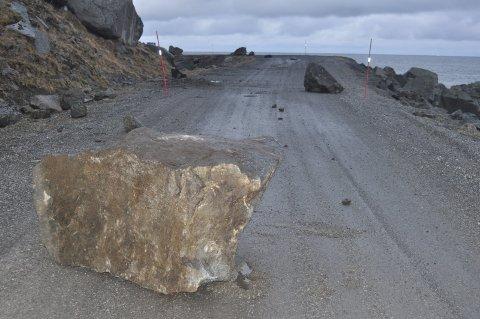 Mest utsatt: Dette bildet er fra steinraset 29. desember 2013 i Myrlandsfjellet. foto: MAGNAR JOHANSEN