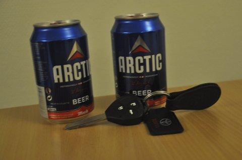 ØL: Kvinnen fortalte at hun drakk to øl flere timer før hun satte seg bak rattet. Ill.foto: Kai Nikolaisen
