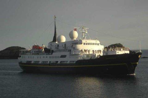 MS «Serenissima» på cruisetur i Lofoten.