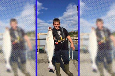 Denne kveita på vel syv kilo ble fangsten da 11 år gammel Henning Børresen dro sin egen kveitevad for første gang. Alle foto: Privat