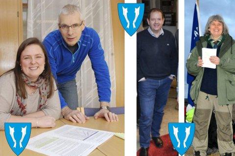 Monca Kleffelgård og Einar Solvang i LAS, Christian Mide i ConceptoMed og speiderleder Tone Johanne Pedersen.
