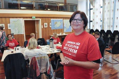 Klar til innsats: Marit Olsen er nestleder i Svolvær Røde Kors og ansvarlig for TV-aksjonen i Vågan.