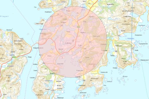 Hauklandsstranda blir ikke berørt av droneforbudet rundt Leknes lufthavn.