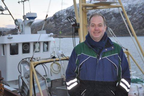 FLOTT: Fiskekjøper Jens Petter Gylseth ser det som svært positivt at antall fiskebåter øker i Vestvågøy. Foto: Kai Nikolaisen