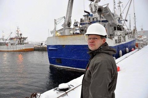 Planer: Daglig leder på Ballstad Slip, Roger Abrahamsen, er også styreleder i eiendomsselskapet Godthåp AS som ønsker å fylle ut nytt industriareal i Ballstad havn. – Ballstad Slip har liten plass i dag. Nå håper vi på utdyping av havna, sier Abrahamsen.