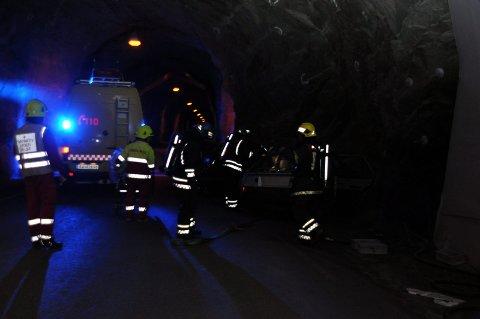 Øvelse: Torsdag 19. oktober blir det storøvelse i Sløverfjordtunnelen. Ill.foto: Kai Nikolaisen