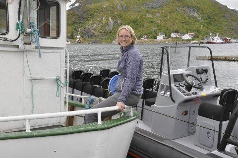FORNØYD: Therese Amalie Holtan Larsen i Reine Holding AS er fornøyd med utviklingen i turisttrafikken.