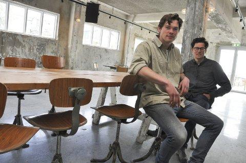 Satser: Andreas Hjelle og Mats Alfsen er to av ildsjelen bak satsingen på Trevarefabrikken og Trevarefest.