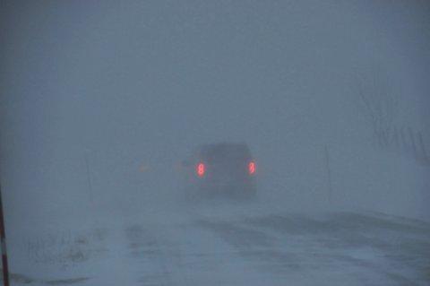 Snøfokk og  dårlige kjøreforhold