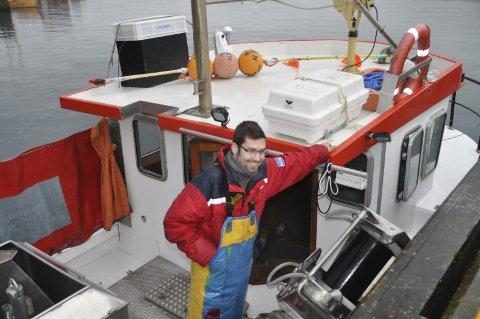 FISKER: Det var Morten Eriksen på «Eriksen Senior» som fikk krabbene. Foto: Kai Nikolaisen