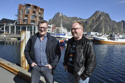 Enig med Sandberg: Gruppeleder for Frp i fylkestinget, Dagfinn Olsen (t.v.), støtter partikollega og fiskeriminister Per Sandbergs forslag om strukturering av sjarkflåten.