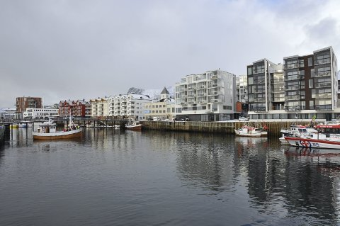 Skyline: Svolvær har siden årstusenskiftet fått etablert en unik og vakker skyline langs havna.