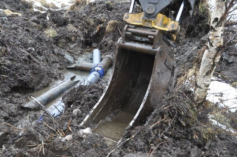 REPARERT: Her er rørledningen reparert. Alle foto: Kai Nikolaisen