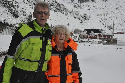 Campingplass vil på nett: Randulf Tjønndal og Evy Åland Tjønndal er klar til turistsesongen. – Vi håper å tilby turistene bedre nettilgang, sier ekteparet som driver Brustranda Camping i Rolvsfjord. Vestvågøy kommune jobber med en løsning for Valberg, Nord-Borge og Utakleiv. FOTO: MAGNAR JOHANSEN