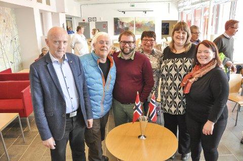Aksjonsgruppa: F.v. Søren Fr. Voie, Jon Heger, Ørjan Arntzen, Eva-Karin Busch, Linda Markussen og Elisabeth Holand.