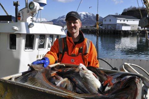 Fornøyd: Skipper Ørjan Sandnes er veldig fornøyd med ekstrakvoten de fikk og ikke minst at det fortsatt er torsk i Lofoten. Begge foto: Kai Nikolaisen