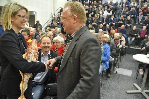 Før møtet: Per Sandberg, Remi Solberg og Siv D. Aasvik.