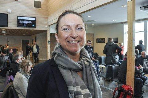 Fornøyd: Informasjonssjef Catharina Solli i Widerøe. Foto: Lise Fagerbakk