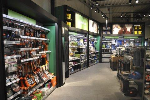 Moderne: Den nye Felleskjøp-butikken framstår som oversiktiklig og moderne.