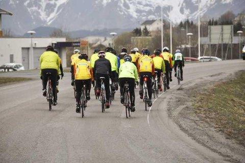 Gult er kult på sykkelen. DA blir letter oppdaget av andre veifarende.