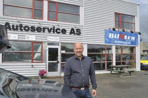 VENTET. - Underskuddet i 2019 var ventet, men nå er vi tilbake på rett kurs, sier daglig leder Vegar Andreassen i Autoservice AS på Leknes.
