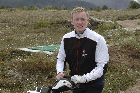 13. Plass: Under NM i matchplay tok Lars Magnussen en imponerende 13. plass i Drammen. Grunnet problemer med oppsettet, fant ikke golfforbundet det riktig å kåre en vinner. Nå skal de 16 beste mest sannsynlig spille sluttspillet om igjen. Foto: Arkiv