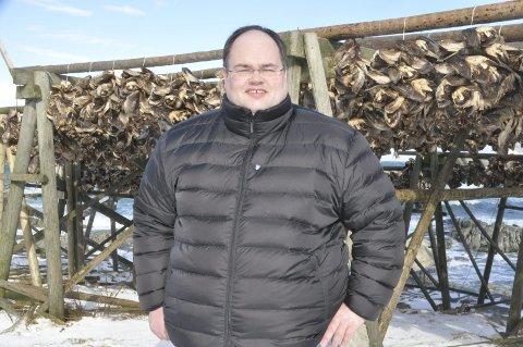 FORNØYD: Einar Benjaminsen er fornøyd med fjorårets resultat etter eksporten av tørrfisk og torskehoder.