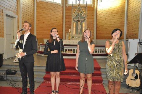 Vellyd: Kristian Johan, Charlottte, Caroline og Agnes Gjertsen imponerte stort under sommerkonserten i Buksnes kirke. Alle foto: Kai Nikolaisen