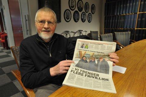 Forretningsmannen og nå pensjonist Per Jul Rødsand (81) i Svolvær sier de unge må ta over ansvaret i Svolvær Røde Kors.