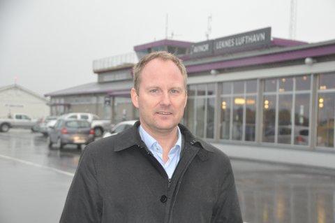 Vil ta grep: Remi Solberg er styremedlem i Flyplass-alliansen, ordfører i Vestvågøy og leder i Lofotrådet. Flyplass-alliansen krever nå endringer i avgiftene for å unngå store kutt i rutetilbudet til små flyplasser.