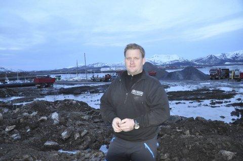 ANBUD: Levi Holdahl i Holdahl Maskin og Transport AS leverte inn det nest laveste anbudet for vedlikehold av fylkesveiene i Ofoten og Lofoten.