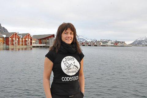 Codstock: Festivalsjef Trine Mentzen ønsker alle hjertelig velkommen til årets utgave av Codstockfestivalen i Henningsvær.