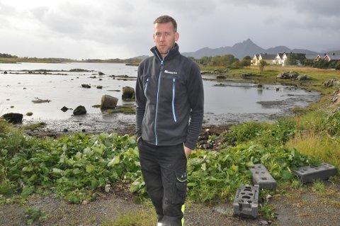 NÆRINGSTOMT: Kim Bergheim Voie ser fram til at Vestvågøy kommune avklarer salg av næringstomt. Han har ventet på svar i åtte år om kjøp i Mjåneset. ARKIVFOTO: Magnar Johansen