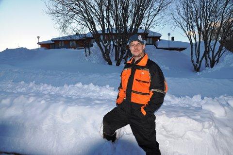 EGEN BEDRIFT: Rino Toften har etablert sin egen bedrift, Toften service, som blant annet tilbyr snømåking.