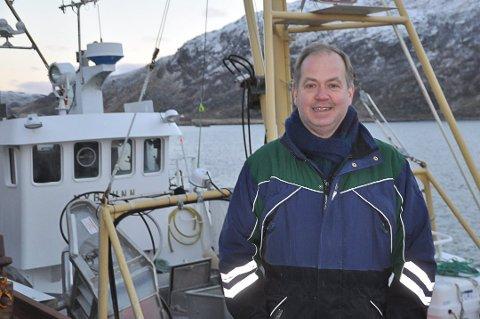 VANT: Jens Petter Gylseth fra Steinfjorden Sjømat AS fikk næringsprisen 2019 fra Vestvågøy kommune.