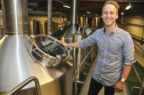 Andreas Thorvardarson er svært fornøyd med at Lofotpils nå har blitt sertifisert som  Miljøfyrtårn - som landets første bryggeri. Arkivfoto: Øystein Ingebrigtsen