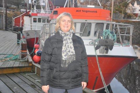 KYSTFISKER: Marit Elise Hasnes er klar for Lofot-fisket. 58-åringen, opprinnelig fra Lødingen, har etablert kystfiskerederi sammen med kjæresten i Sund.