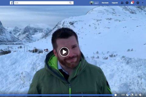 "KANAL: Trond Kroken (Sp) er kritisk til at ordfører Hans Fredrik Sørdal (Ap) sine «fredagsinnslag"" via Facebook sendes på ordførerens egen Facebook-side. FOTO: Magnar Johansen"