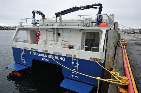Det ene av fire vannjet-aggregater er det som gjør at «Elsa Laula Renberg» ennå ikke er i rutefart Svolvær-Bodø-Sandnessjøen.
