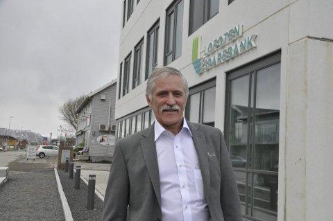 SISTE ÅR ALENE: Banksjef Werner Martinsen er fornøyd med det siste driftsåret som selvstendig bank. ARKIVFOTO: Magnar Johansen