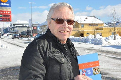 PÅ TOPP: Per Hansen topper Partiet De Kristens liste til fylkestingsvalget og til kommunevalget i Vestvågøy.