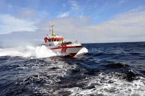 """VIKAR: """"Det Norske Veritas"""" er for tiden redningsskøytevikar på Andenes"""
